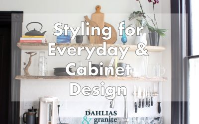 Want To See My Drawers? An inside look at cabinet layout and open shelf styling.